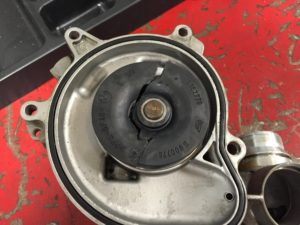 A Water Pump With A Damaged Impeller Caused The Engine To Overheat.
